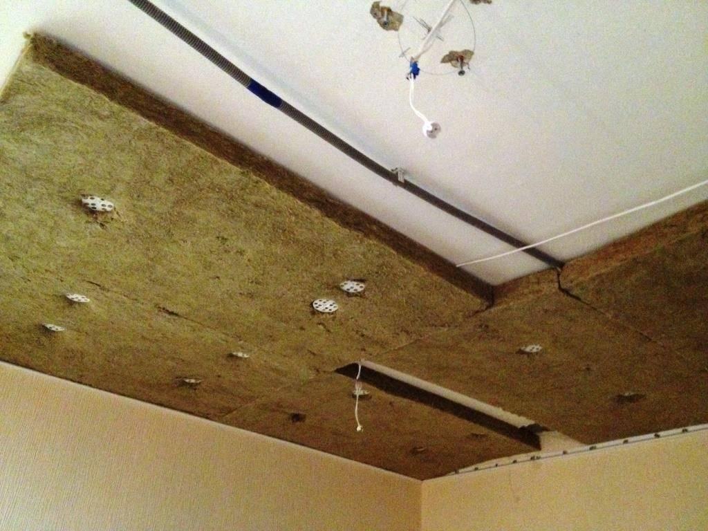 Звукоизоляция потолка в квартире под натяжной потолок своими руками
