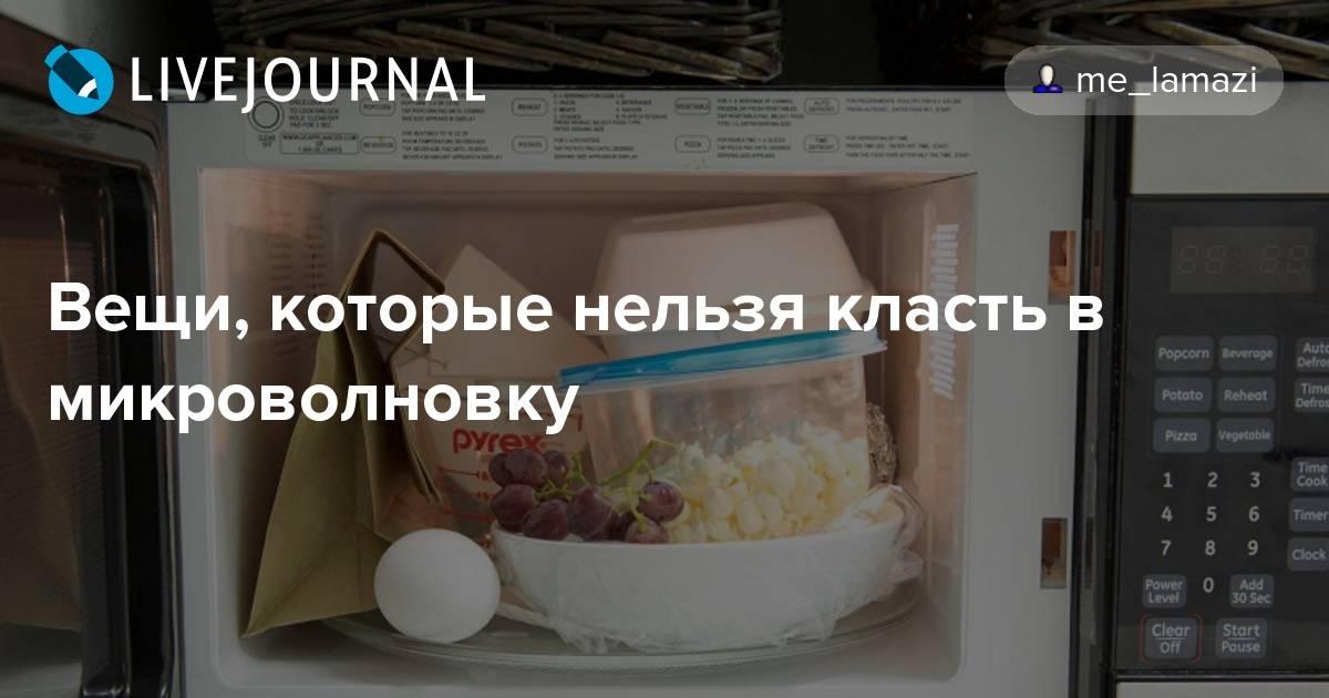 Что нельзя делать в микроволновой печи - и что можно на supersadovnik.ru