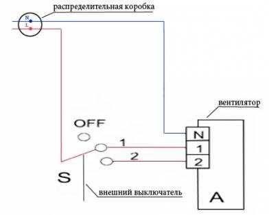 Как подключить вентилятор в ванной комнате к выключателю