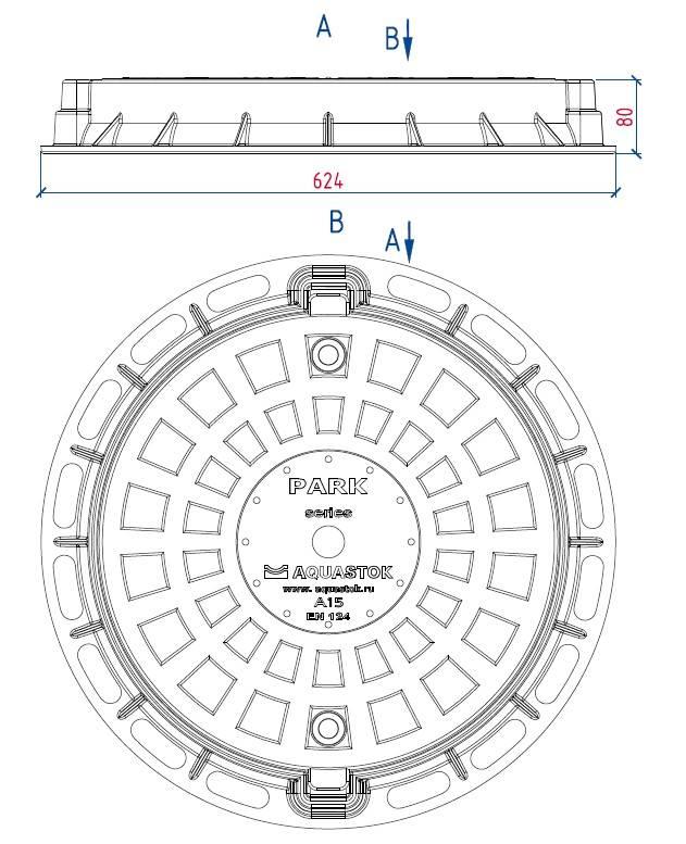 Люк канализационный: полимерный, чугунный, пластиковый, диаметры и размеры крышки