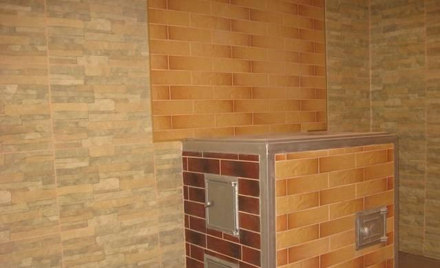Отделка печей керамической плиткой, правила подбора материалы и виды работ