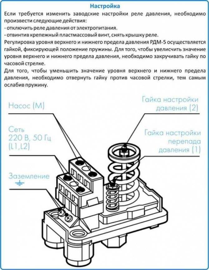 Настройка реле давления насосной станции своими руками - пошаговая инструкция