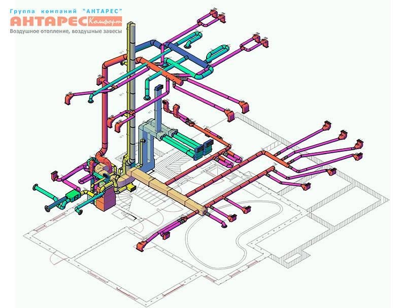 Как сделать расчет системы воздушного отопления
