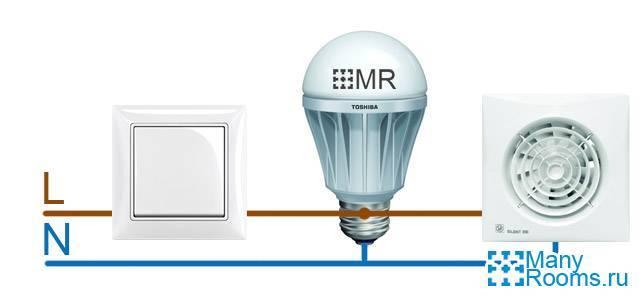 Схемы подключения вентилятора в ванной – ошибки и правила установки выключателя вытяжки в санузле