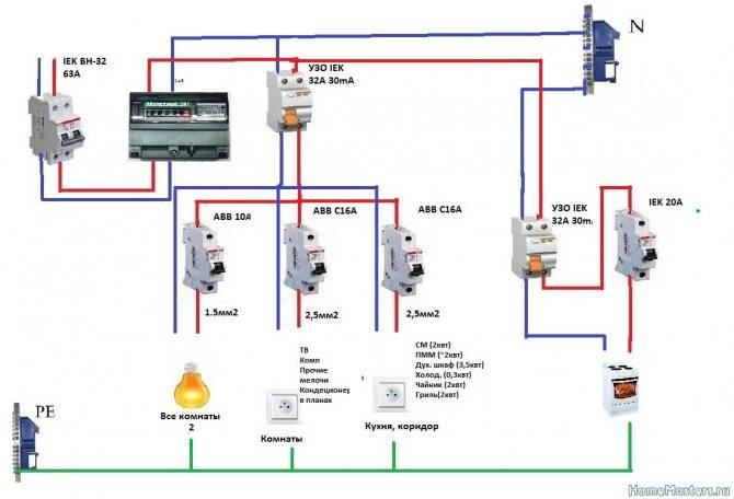 3 схемы подключения мастер выключателя — без проводов, без клавиши, через контактор.