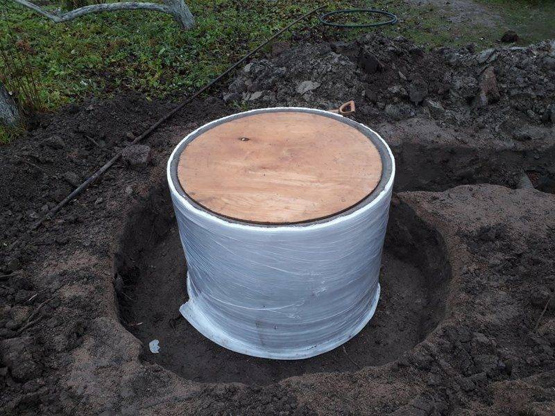 Утепление водопроводного колодца