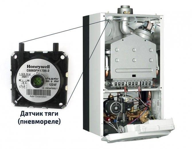 Виды датчиков тяги газового котла отопления и правила его монтажа