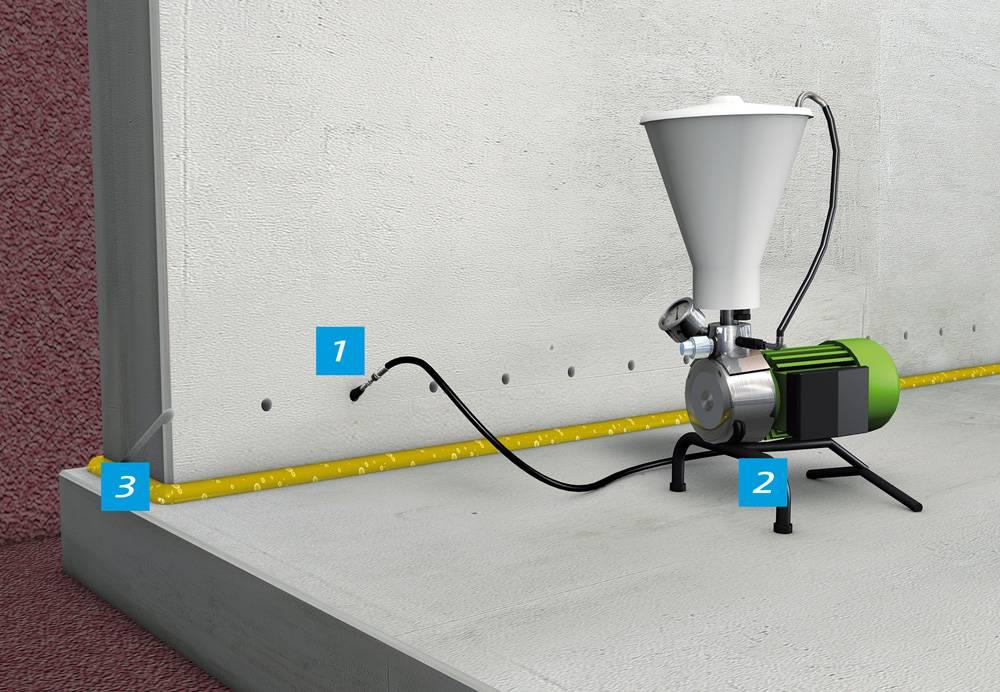 Инъектирование бетона: методы, технология