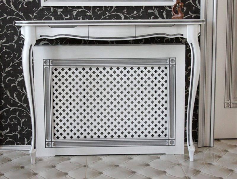 Декоративная решетка радиатора отопления: красивая радиаторная решетка, размеры деревянной решетки для батареи