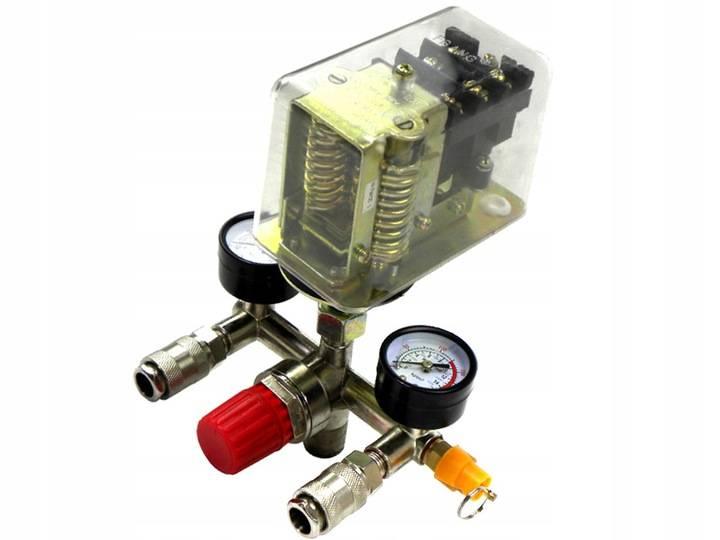 Реле давления для компрессора с манометром: принцип, подключение, схема