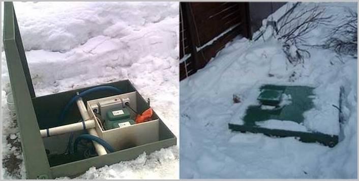 Автономная канализация зимой