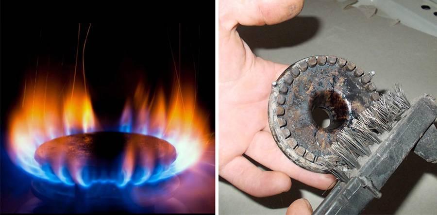 Газовая плита или духовка гаснет, не держит пламя