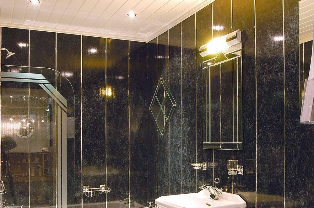 Отделка ванной комнаты пластиковыми панелями: инструкции