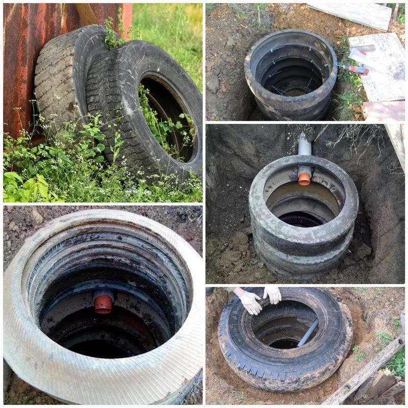 Дачная канализация из покрышек: инструкция | как сделать канализацию из покрышек