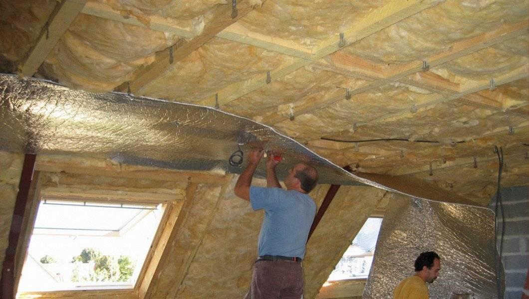 Утепелние потолка в частном доме: выбор материала и правила
