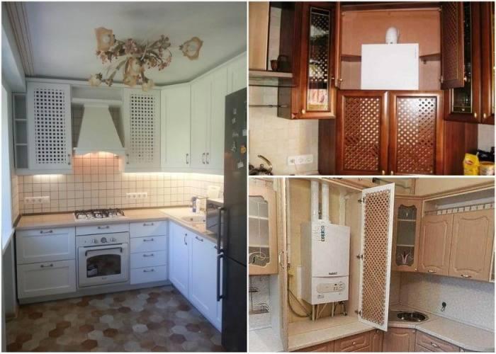 Можно ли газовую колонку спрятать в шкаф: разрешается ли убрать прибор за кухонный гарнитур