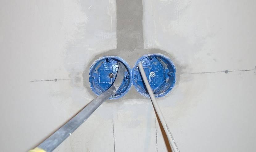 Правильная установка подрозетников. установка подрозетника в бетон и гипсокартон