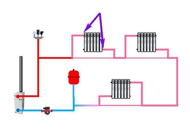 Схема отопления ленинградка в частном доме - всё об отоплении и кондиционировании