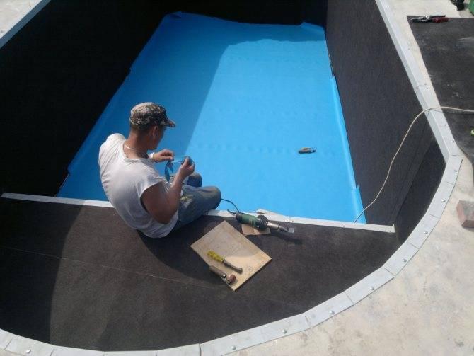 Выбор материала для гидроизоляции бассейна