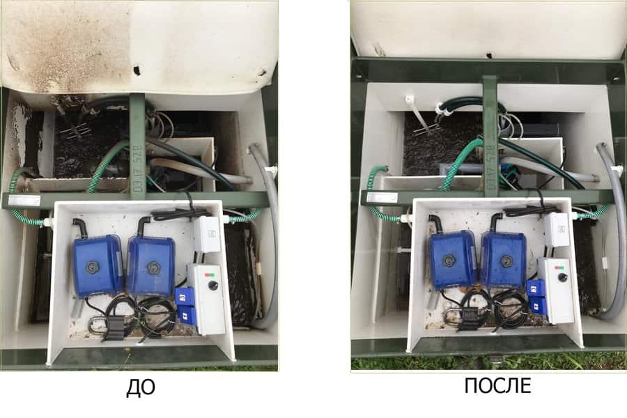 Обслуживание септика топас: очистка станции и откачка ила