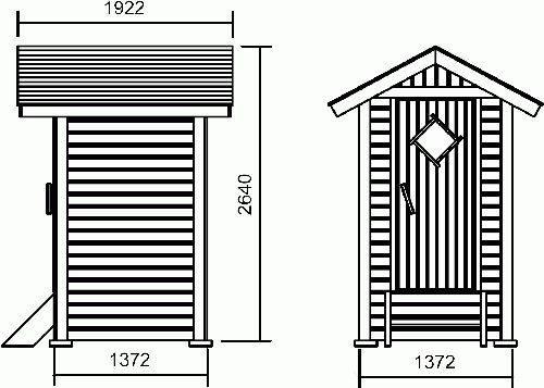 Туалет на даче своими руками чертежи размеры шалаш