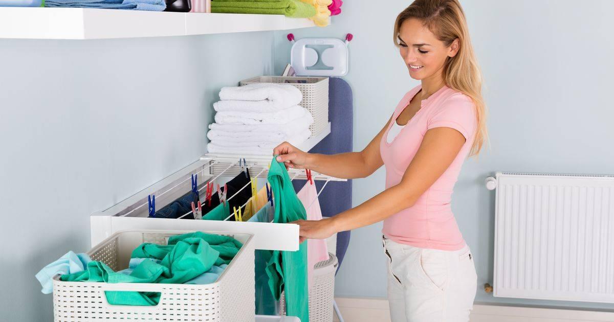 Где сушить белье зимой в квартире