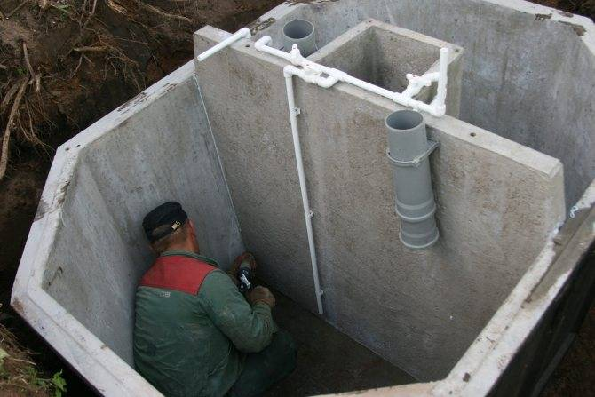 Бетонный септик своими руками строительство и ремонт канализации