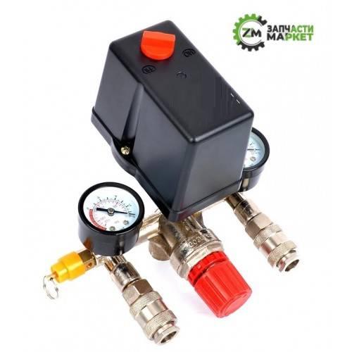 Регулятор, или реле давления воздуха для компрессора с манометром