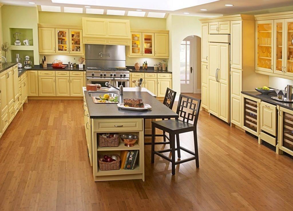 Напольное покрытие для кухни - какой пол лучше сделать на кухне, фото дизайна комбинированного пола на кухне.кухня — вкус комфорта