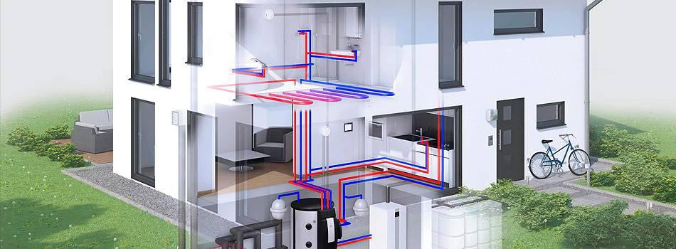Системы водяного отопления загородного дома