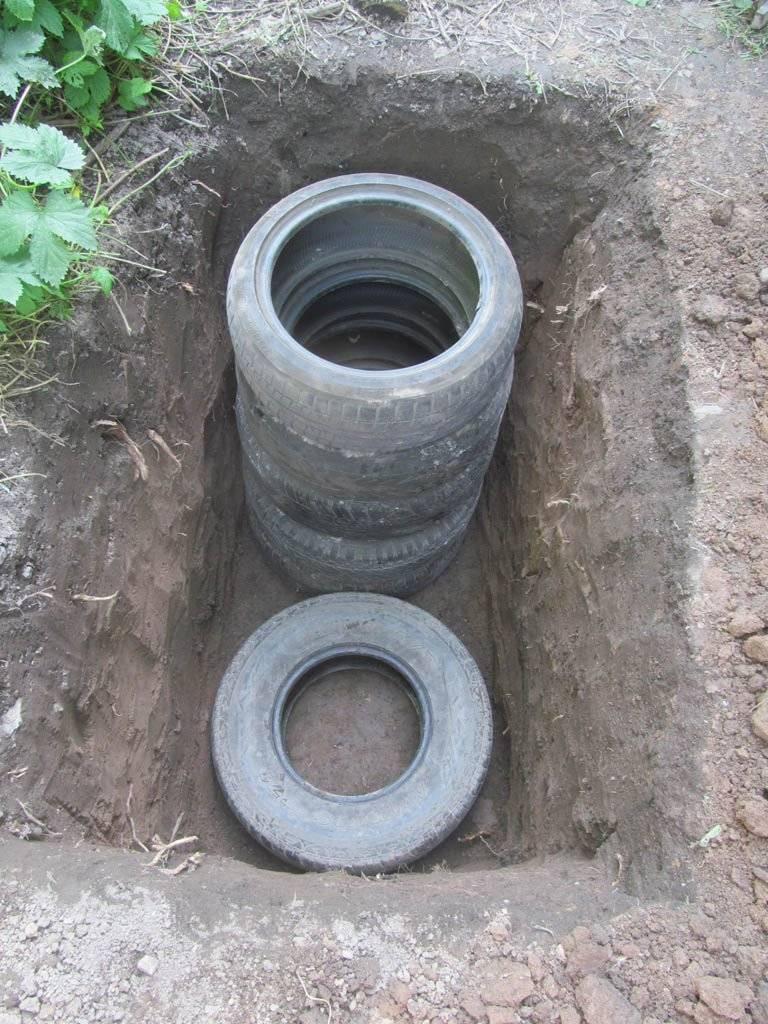 Как соорудить выгребную яму из покрышек: пошаговая технология самостоятельного сооружения