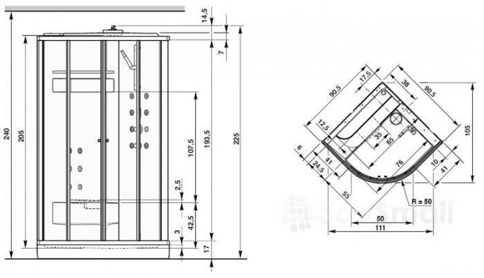 Типовые размеры душевых кабин: стандартные и оптимальные размеры - domwine