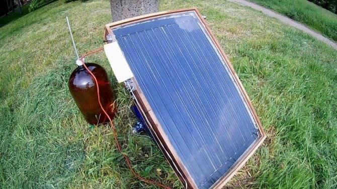 Солнечный коллектор из алюминиевых банок, как сделать