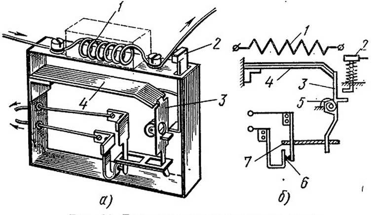 Тепловая защита электродвигателя. электротепловое реле.