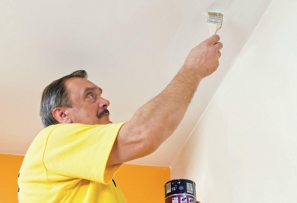 Как сделать ремонт потолка после протечки своими руками