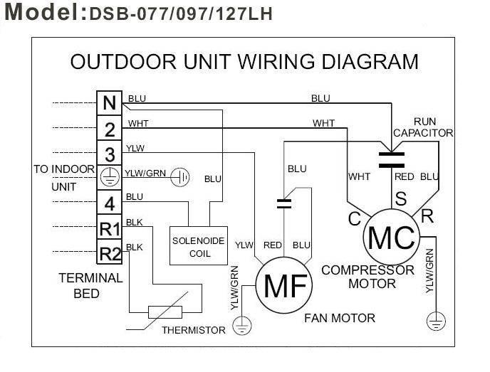 Схема и устройство наружного блока кондиционера, внутреннего блока и компрессора