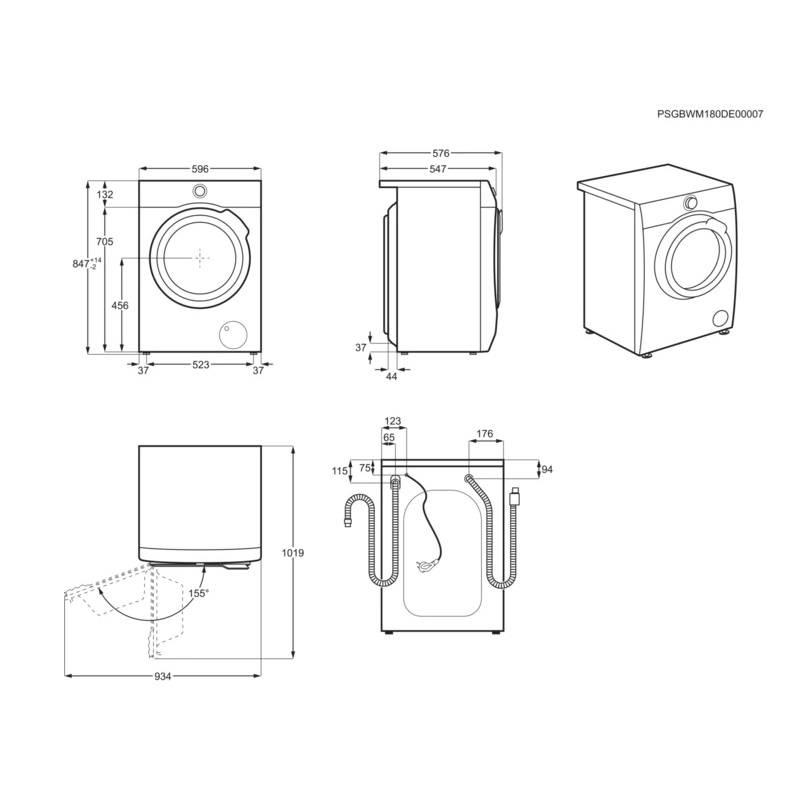 Габариты стиральной машины в упаковке - вместе мастерим
