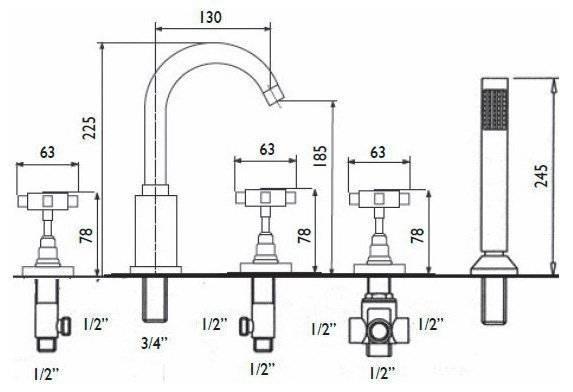Простая и быстрая установка смесителя в ванну: секреты монтажа