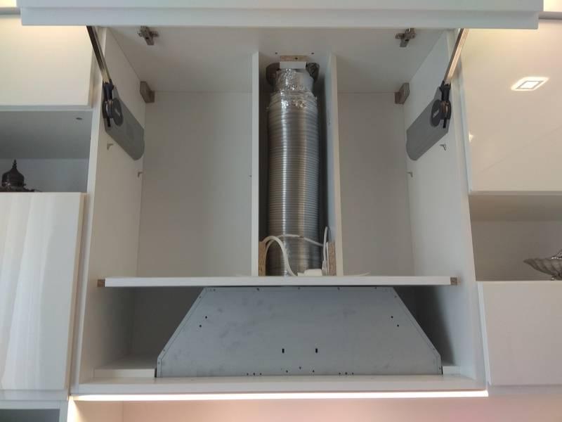 Шкаф под вытяжку: правильная установка и монтаж шкафа