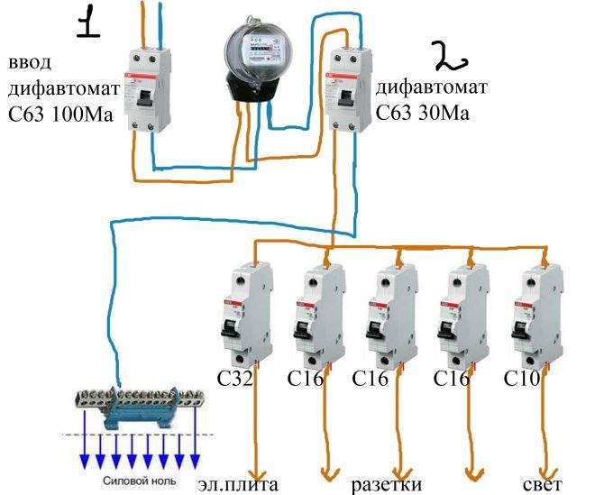 Как подключить автоматический выключатель. схема подключения автоматического выключателя