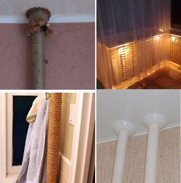 Как спрятать трубы отопления в квартире: и тепло, и красиво
