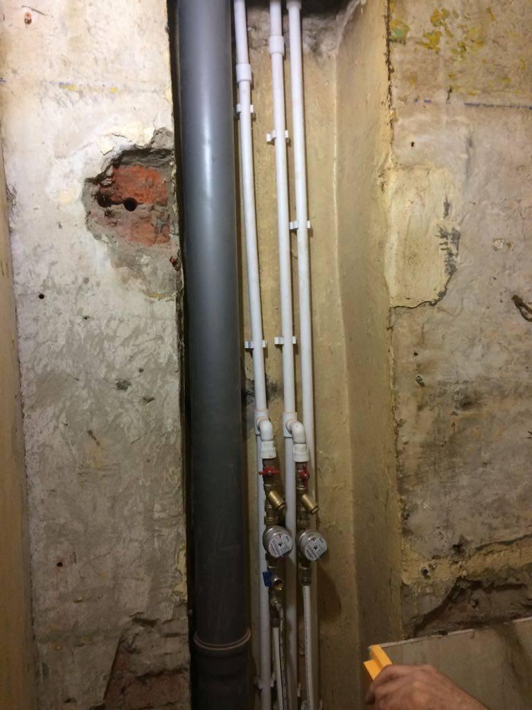 Замена стояка водоснабжения и канализации в квартире: этапы проведения работ