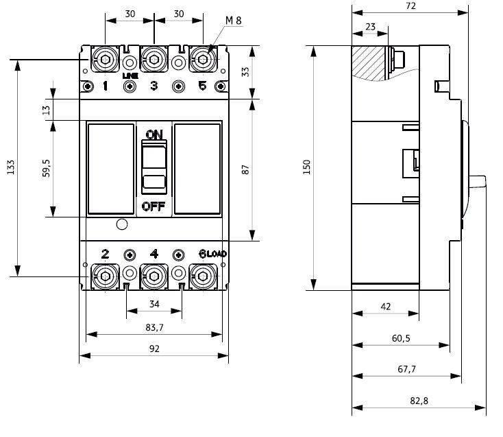 Двухполюсный автомат схема подключения
