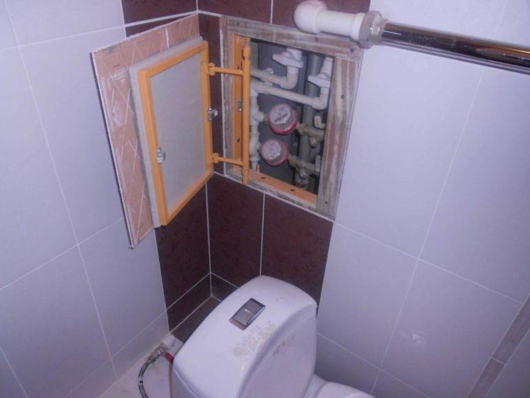 Как спрятать канализационную трубу в туалете