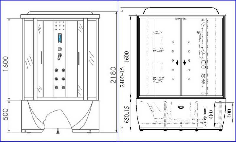 Душевые кабины: размеры, конструкции, принцип выбора