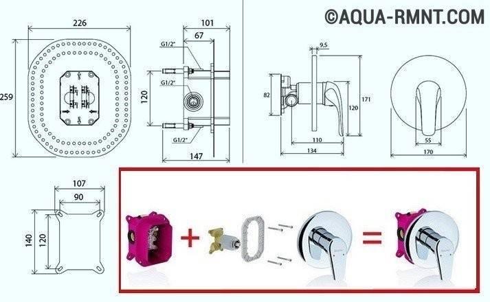 Установка смесителя в ванной своими руками: пошаговая инструкция