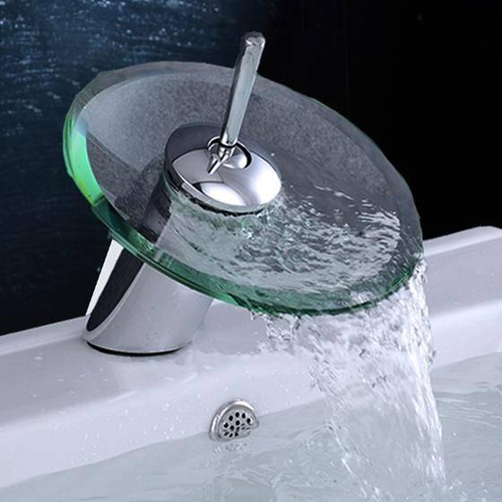 Смеситель-водопад для раковины: в ванну, на кухню