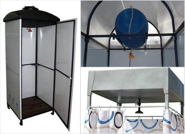 Летний душ - варианты изготовления, фото, чертежи, советы