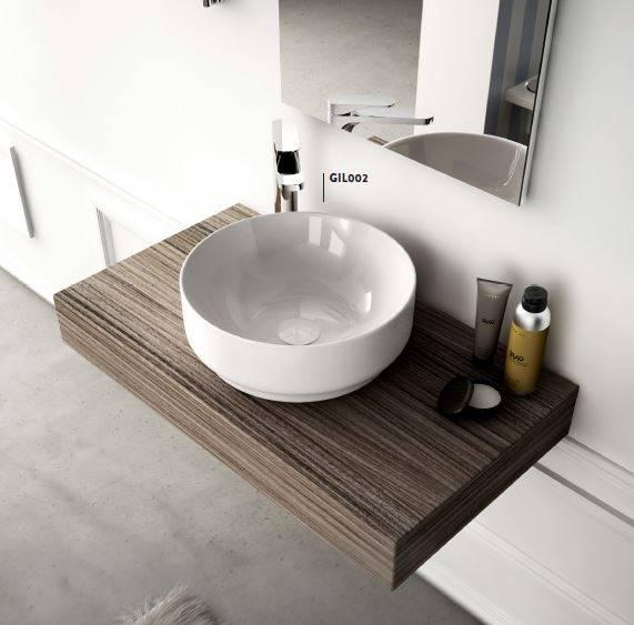 Столешница в ванную под раковину - стильные и красивые варианты применения столешниц в ванной комнаты (85 фото)