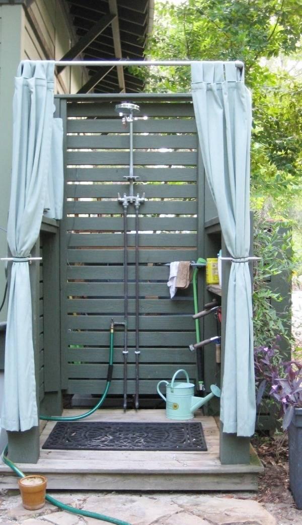 Как сделать летний душ на даче своими руками — пошаговая инструкция